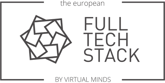 European Full Tech Stack by virtual minds Logo