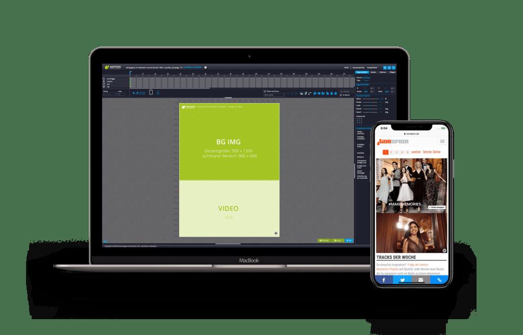 HTML5 ad.creator von ADITION mit neuen Parallax Templates